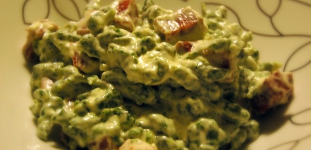 Spatzle agli spinaci con panna e speck blog