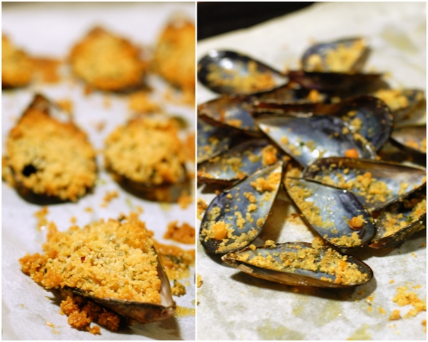 Cozze gratinate collage blog